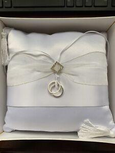 details about lillian rose white wedding rings pillow ring bearer pillow wedding ceremony