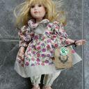 "13″ Boyd's ""Lynne"" Porcelain Doll-Good-Kruger-Lmtd Ed 1082/2400-Hand Made-2000"