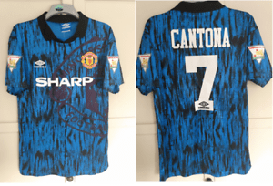 Signed shirts, prints and photos available all supplied with a certificate of. Manchester United Blue Away Shirt 1992 1993 1994 Man Utd ...