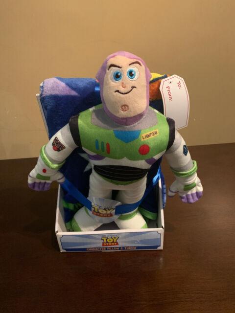 disney pixar toy story 4 buzz lightyear character pillow throw