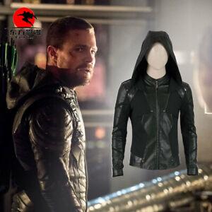 details about dfym green arrow season 8 oliver queen cosplay costume jacket for men halloween