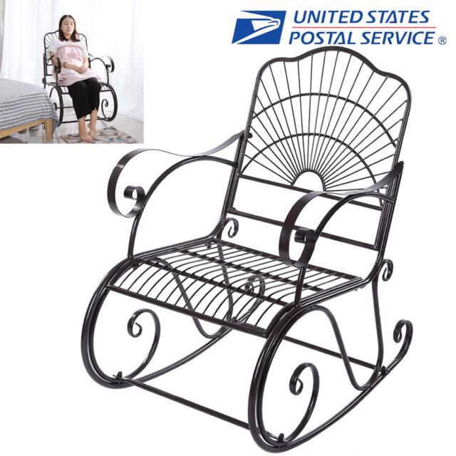 wrought iron rocking chair porch rocker