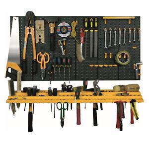 details about wall mounted garage workshop tool organiser storage panel rack kit