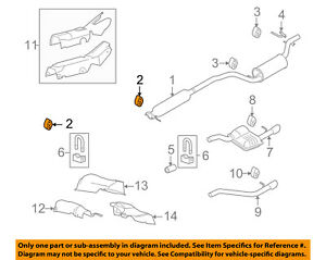 details about ford oem 08 11 focus exhaust system catalytic converter insulator 5s4z5a262a