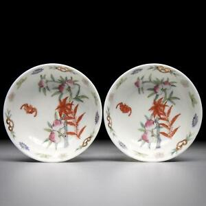Perfect Pair antique CHINESE PORCELAIN DISHES Republic Period early 20th century