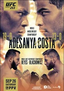 details about ufc 253 official 22 x 28 fight poster israel adesanya vs paulo costa