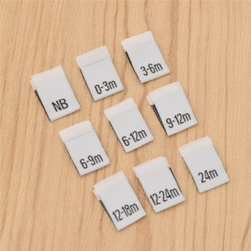 100-Pcs-Handmade-Size-Labels-for-Baby-Clothings-Clothes-Garment-Polyester-Tages
