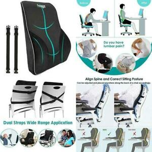 details about lumbar support pillow back cushion memory foam orthopedic backrest for car seat