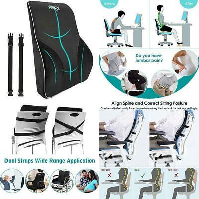 lumbar support pillow back cushion memory foam orthopedic backrest for car seat ebay