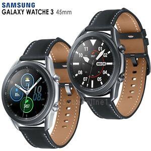 Samsung Galaxy Watch 3 SM-R840 (45mm) Wi-Fi Smartwatch Leather Stainless Steel