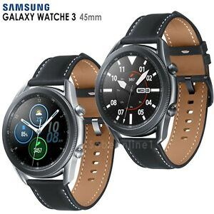 Samsung Galaxy Watch 3 SM-R840 (45mm) Wi-Fi Smartwatch Leather Stainless Steel