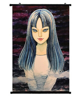 junji ito another face horror tomie cloth poster wall scroll painting 60x40cm ebay