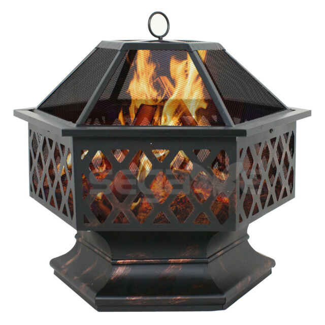 patio deck heater backyard fire pit outdoor wood burning stove fireplace bowl