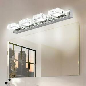 details about modern bathroom lighting led crystal mirror front make up wall lamp vanity light