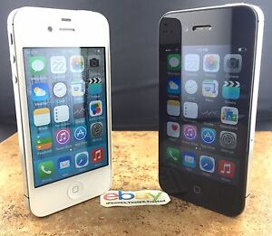 Apple iPhone 4S - Black White (Factory Unlocked) AT&T T-Mobile 8/16GB/32GB/64
