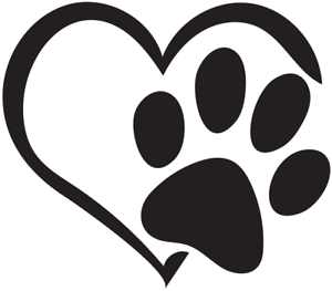 Download Love Heart Paw Print Decal Multicolor Made in USA | eBay