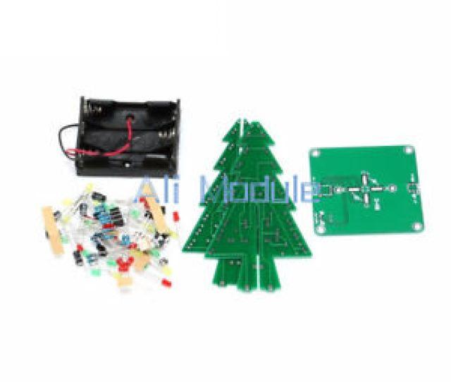 Image Is Loading Christmas Tree Led Flashing Light Diy Kit Red