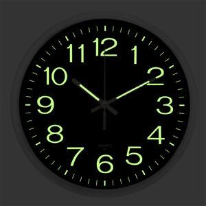 12'' Large Quartz Wall Clock Non Ticking Luminous Number ... on Decorative Wall Sconces Non Lighting id=87037