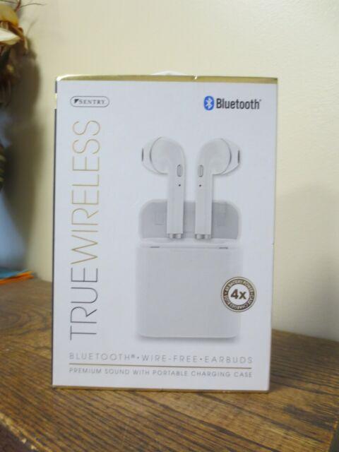 new sentry true wireless bluetooth wire free earbuds bt989 white 9888