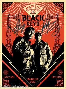 details about the black keys poster quality signed autograph madison square garden concert