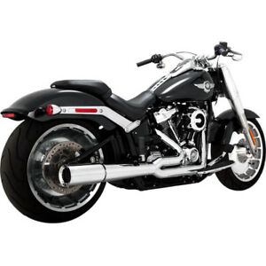details zu vance hines pro pipe 2 into 1 exhaust 17589 for harley 2018 2019 softail