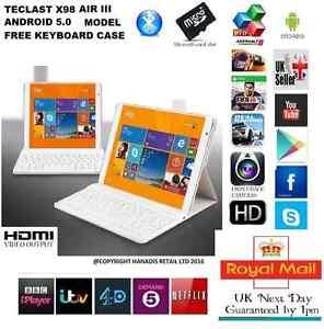 "9.7"" TECLAST X98 AIR 32GB ANDROID 5.0 TABLET PC Intel Z3735F Quad Core UK WIFI"