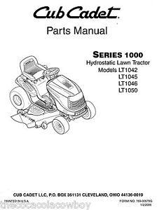 Cub Cadet LT1042 LT1045 LT1046 LT1050 Parts Manual   eBay