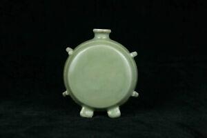 Chinese antique porcelain Longquan celadon bottle Yuan dynasty