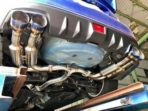 details about invidia r400 single layer cat back exhaust w black tips fits 2015 2020 wrx sti