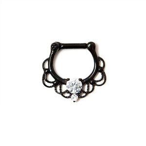 Steel Septum Clicker Fairytale Black - Septumpiercing - Piercing Nasenring