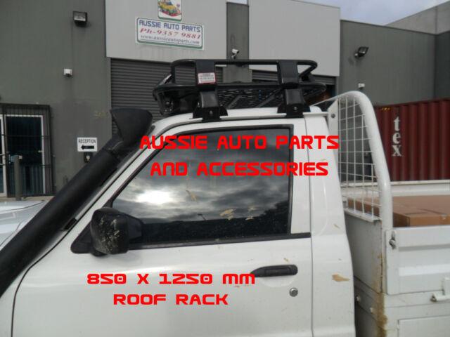 steel roof rack cage 850mm brackets for nissan patrol gq gu single cab ute racks