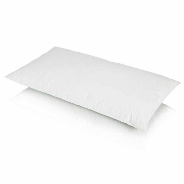 3ft king size hollowfibre bolster pillow with jaqcuard cover 48cm x 90cm