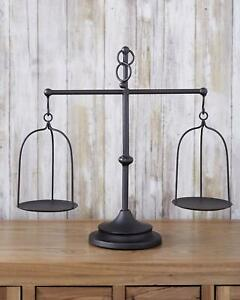 Farmhouse Candle Holders Table Centerpiece Vintage Balance ... on Decorative Wall Sconces Candle Holders Centerpieces Ebay id=36430