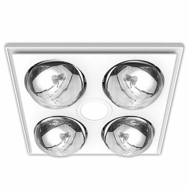 heller 3 in 1 bathroom ceiling heater exhaust fan led light white