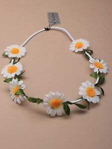 white daisy flower garland hair band headband elastic festival wedding new ebay