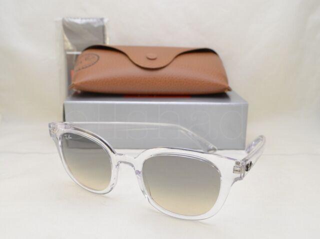 ray ban transparent frame light gray gradient lenses sunglasses rb4324 644732 50
