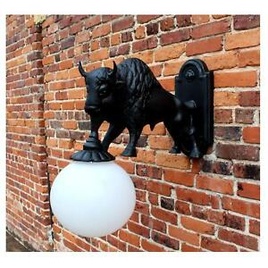 Wall Mount Buffalo Sconce Light Indoor Outdoor Non Rust ... on Decorative Wall Sconces Non Lighting id=46846