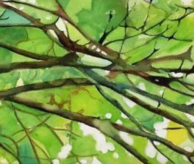 Image Is Loading Giclee Print Tree Branches Landscape Abstract Painting Art