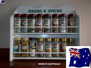 details about 16 jar spice rack in white herb spice