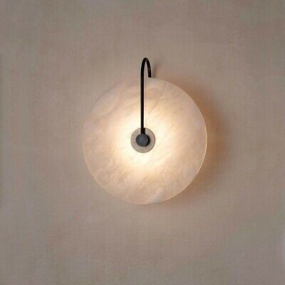 modern white round marble indoor wall sconce lighting bedroom wall light fitting ebay
