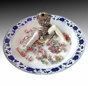 "LIU JIANHUA ""Games"" Signed 2002 Ceramic Sculpture 21 1/2 Inch Charger"