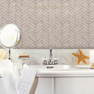 details about sticktiles chevron distressed brown white wood peel and stick tile backsplash