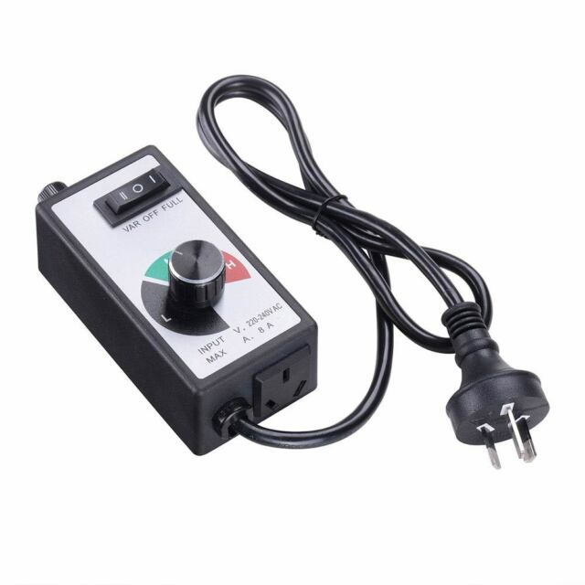 220v 240v variable speed controller for exhaust inline duct fan motor router 8a