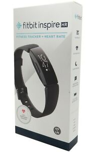 Fitbit Inspire HR Heart Rate & Fitness Tracker Black Small & Large Bands