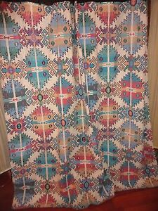 SPRINGS KILIMANIA SOUTHWESTERN AZTEC GREEN TAUPE RED SHOWER CURTAIN 67 X 68 EBay
