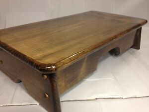 details about bedside step stool bedroom furniture bed step wooden provencial stained 11 wide