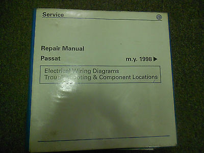 1998 1999 2000 2001 vw passat electrical wiring diagram service repair  manual  ebay