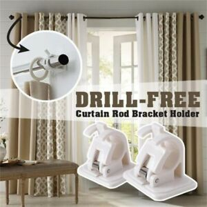 details about nail free smart rod bracket holders set of 2