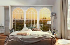 """La carta da parati effetto finestra realizzata con materiale """"tessuto non tessuto"""" Fotomurale Finestra Su Parigi Carta Da Parati Belle Vue Poster Murale Tnt Ebay"""
