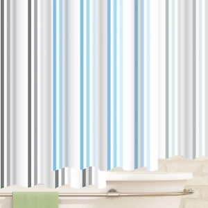 details about blue grey duck egg 100 polyester striped shower curtain brighton rock